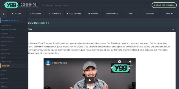 YGGTorrent - cpasbien alternatives